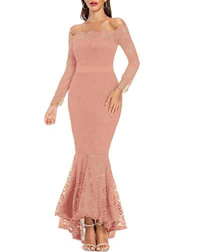 Pink Off the Shoulder Dress Mermaid Wedding
