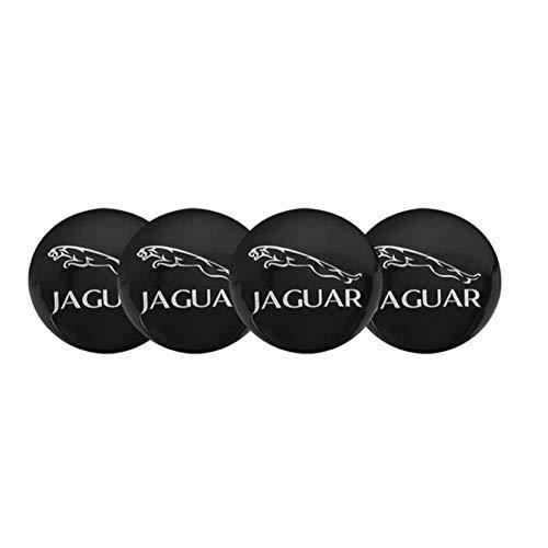tieoqioan Tapas de Cubo de Centro de Rueda de Coche Emblema de Insignia Cubierta de Rueda para Jaguar XEL F-Type XFL F-Pace E-Pace I-Pace XF XJL XK XE XJ XJ6 XJS