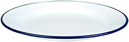 Ibili 901124 Assiette Plate Acier Blanc 24 cm