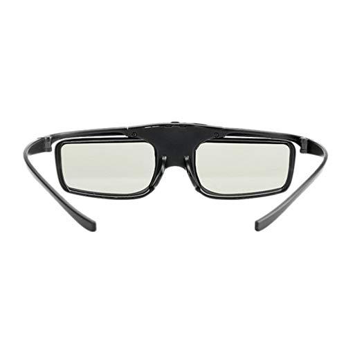 SNOWINSPRING Gafas 3D con Obturador Activo Recargable Sin Efecto Fantasma para Proyector DLP Link