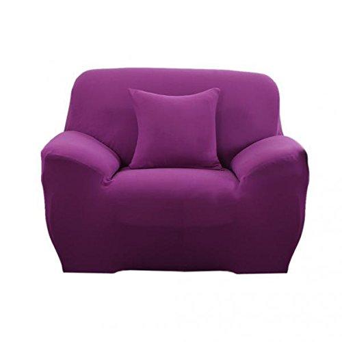 Fenteer 2X Spandex Stretch Lounge Chair Divano Divano Divano Divano Coprisedili Decorazioni per La Casa Viola + Monoposto (90-140 Cm)