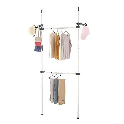 Chengzuoqing Percha ajustable telescópica para armario organizador de ropa para dormitorio