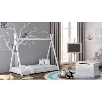 Children's Beds Home Cama con Dosel Individual de Madera Maciza - Estilo Titus Tepee para niños Niños Niño pequeño - Sin colchón Incluido (160x80, Blanco)