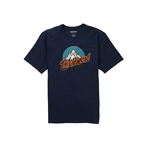 Burton Retro Mountain Maglia A Maniche Corte, Uomo, Dress Blue, XS