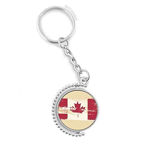 DIYthinker Kanada Flavor Flaggege und Maple Leaf Drehbare Schlüsselanhänger Ringe 1.2 Zoll x 3.5 Zoll Mehrfarbig