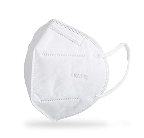KN95 FACE MASK 5-Layer Filtration White Mask - Liquid and Dust Proof Face Protection - 10 Pack