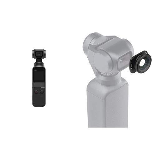 【国内正規品】 DJI OSMO POCKET (3軸ジンバル, 4Kカメラ) + Kenko アクションカメラアクセサリ DJI Osmo Pocket専用ワイドアングルレンズ 広角0.6倍 マグネット式 2.5g K-DW
