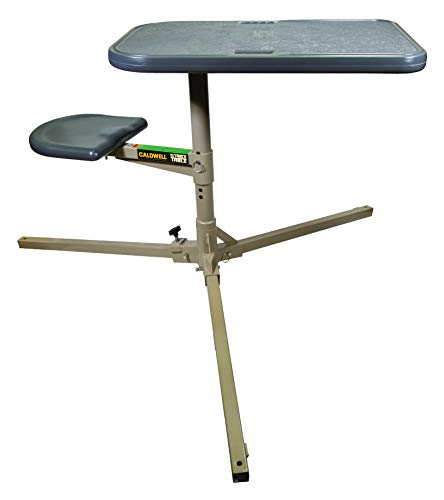 Caldwell Stable Table with Ambidextrous Design, 360 Degree Rotation and Weatherproof Synthetic Top...