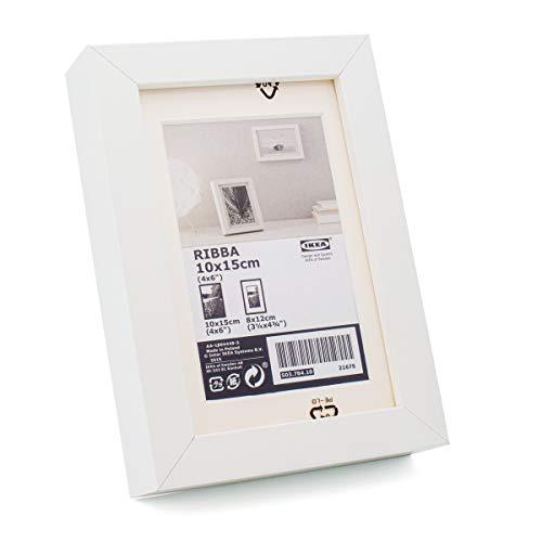 Ikea Ribba - Cornice portafoto, 10 x 15 cm, colore: Bianco