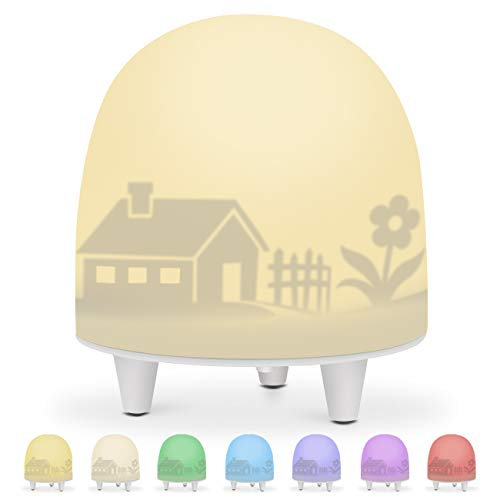 Night Lights for Kids, Soft Silicone Baby Night Light with Touch Sensor and Color Changing Mode, Portable and Rechargeable Nursery Lamp