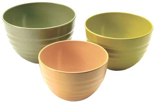 Norpro Bamboo Melamine Ribbed Bowls