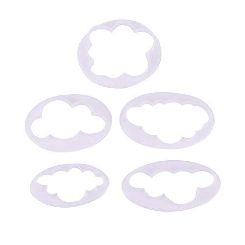 5pcs Nuvola Fondente Modello Decorazione di Torta di Stampa Stampo Stampo di Taglio Strumento da Cucina Utensili da Cottura Gumpaste Strumenti di modellazione Prodotti casa/Cucina