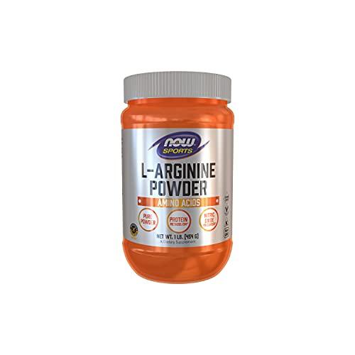 arginine powders NOW Sports Nutrition, L-Arginine Powder, Nitric Oxide Precursor, Amino Acids, 1-Pound