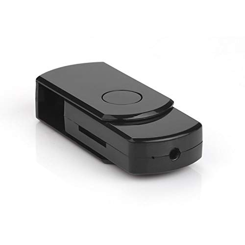TECHNOVIEW U Disk Mini Spy Camera for Indoor Outdoor HD Small Portable Hidden Security Camera for Home/Office/Meeting Surveillance Small Size HD Video Audio Recording Spy Gadget - Black Pen Drive