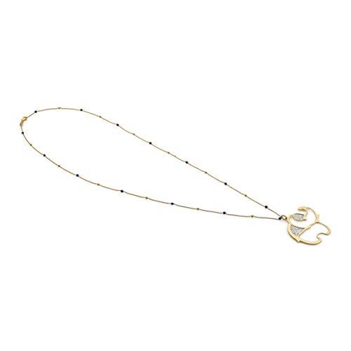 Nomination Collar Jasmine Largo para Mujer de Plata y Oro con Elefante