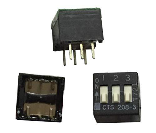 5 interruptores DIP originales CTS 208-3ST de 3 bits de teclado tipo piano interruptor de codificación de 2,54 mm de paso de película