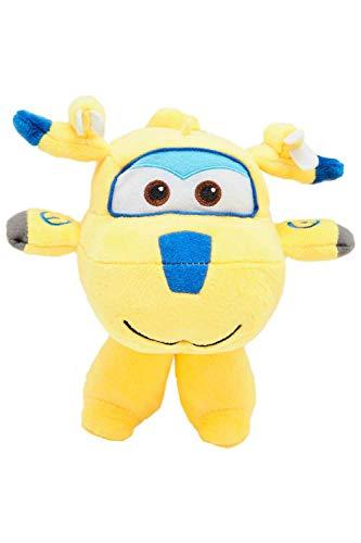 Nickelodeon Super Wings - Flying Friends Flugzeug Charakter Plüschfiguren zum Sammeln und Spielen, 17 cm für Kinder, Donnie (Gelb)