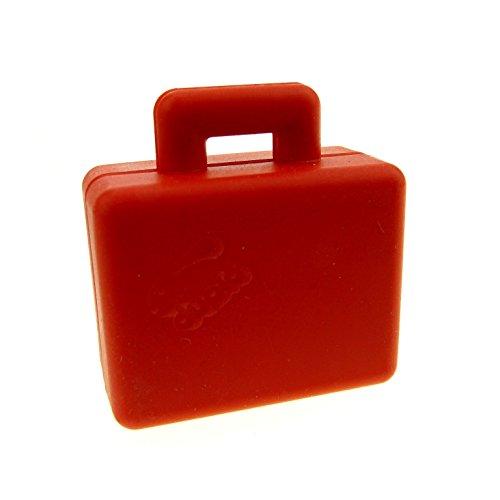 1 x Lego Duplo Koffer rot Figur Zubehör Puppenhaus Möbel Reise Tasche Suitcase 5636 5609 6427