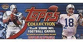 2000 Topps Football Factory Sealed 400 Card Set. Loaded with Rookies and Stars Including Chad Pennington, Brian Urlacher, Shaun Alexander, Favre, Emmitt, Warner, Unitas, Marino, Moss, Manning, Rice, Aikman and Many More.