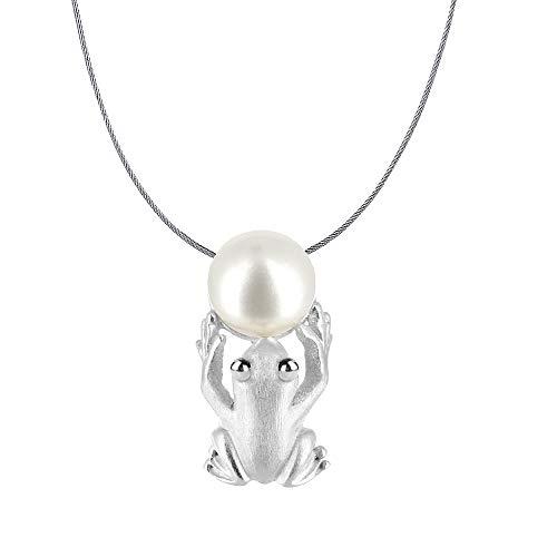 Drachenfels colgante de lujo de la colección Rana en Plata Real   colgante plata de ley 925sin níquel, elegante Rey Rana Colgante para mujer