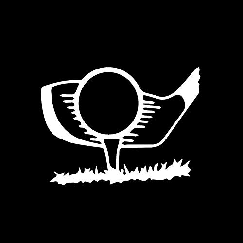 SUIFENG Autoaufkleber 13.1X9.7Cm Interessante Golfspieler Sport Dekor Auto Modellierung Aufkleber Vinyl Silhouette Stoßstange Fenster Aufkleber