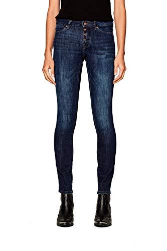 ESPRIT Damen 998CC1B829 Slim Jeans, Blau (Blue Dark Wash 901), 28W / 32L