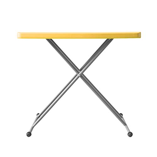 SHYM Folding Table Rectangular Household Folding Table Free Installation Freely Adjustable Table Legs- for Dining Table -desk Picnic -table Office Table