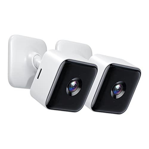 Cámara de Vigilancia 1080P FHD WiFi Interior, Visión Nocturna, Audio Bidireccional, Detección de Movimiento, Funciona con Alexa/Google Home, para Bebé/Mascota/Anciano, 2 Unidades