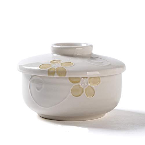 JINKEBIN Bowl. Giapponese coppetta Coreana con Ciotola di minestra Coperchio Egg Bowl Singolo Caricato stoviglie in Ceramica zuppiera Yayun