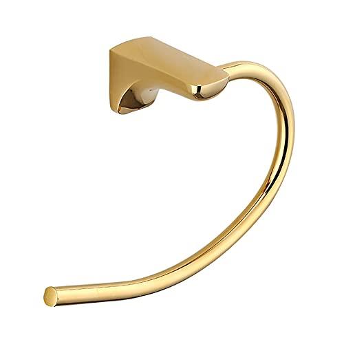 Toallero de anillo titulares para baños Toallero latón semicírculo toalla titular para baño pared toallero oro estilo europeo barra