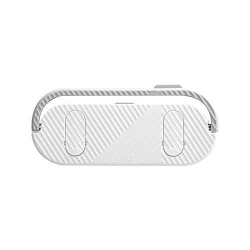 LJKD Estante de 5 Zapatillas de Pared Perforada Libre de Drenaje de Cocina y Estante de Almacenamiento de Acabado 23 * 10cm,Blanco