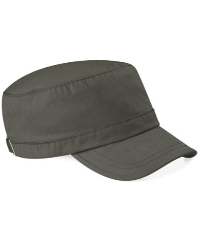 Beechfield Clásico Gorra Militar 100% Algodón - 9 Genial Colores - algodón, Oliva, 100% perchado 100% grueso 100% algodón, Mujer, One Size