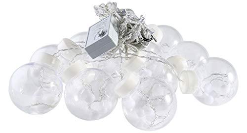 Lichtketting voor buiten, decoratieve LED-lantaarns gordijn verlichting decoratie voor de badkamer 6 soorten licht naar keuze (warmwit/kleur/wit/blauw/roze/violet)