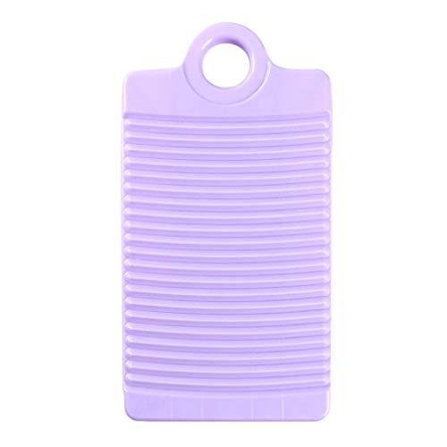 Toporchid Kunststoff Anti-Rutsch-Startseite Waschbrett Handwäsche Board Shirts Reinigung Wäsche Scrub Boards (Lila)