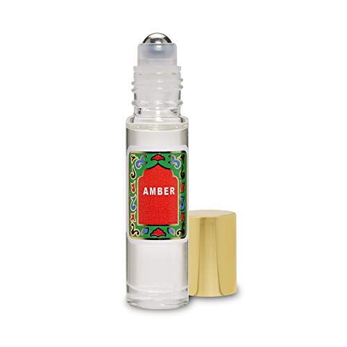 Amber Perfume Oil Roll-On - Alcohol Free Perfumes for Women and Men by Nemat Fragrances, 10 ml / 0.33 fl Oz