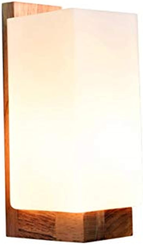 Modern LED Wandleuchte Moderne minimalistische schlafzimmer nachtwandleuchte holz persnlichkeitwohnzimmer wandleuchte LED massivholz handwerk lampenlnge 10 CM  hohe 25 CM  wand abstand 12 CM