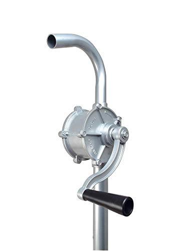 DWT-Germany 101341 Ø 32 mm Kurbelfasspumpe Fasspumpe Handpumpe G2 Fassverschraubung Kurbelpumpe Aus Aluminium Umfüllpumpe Ölpumpe