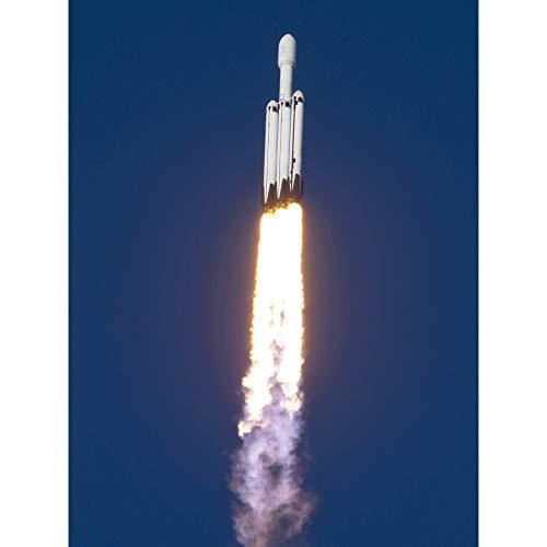 Space X Arabsat-6A Mission Flight Thrusters Large XL Wall Art Canvas Print Spazio Volo Parete