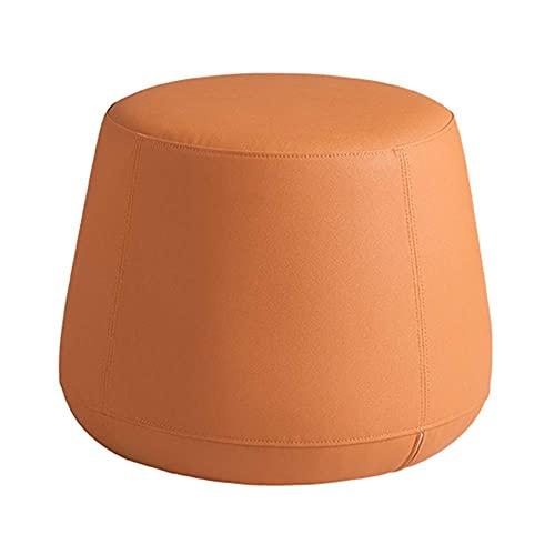 MFLASMF Cambie el Banco de Zapatos Pufs y reposapiés Entrada multifunción Sala de Estar Sofá Taburete Cuero Suave Esponja de Alta Densidad Cómodo, 3 Colores (Color: Naranja, Tamaño: 50x41c