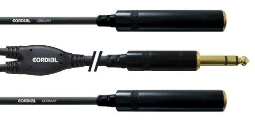 CORDIAL Y-Kabel Stereo-Klinkenband/2 Klinke St. Fem. 30 cm