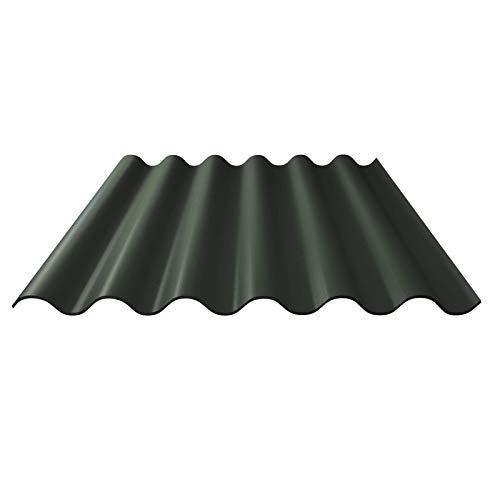 Faserzement Wellplatte | Faserzementplatte | Profil 6 | Material Faserzement | Stärke 6,50 mm | Farbe Dunkelgrün