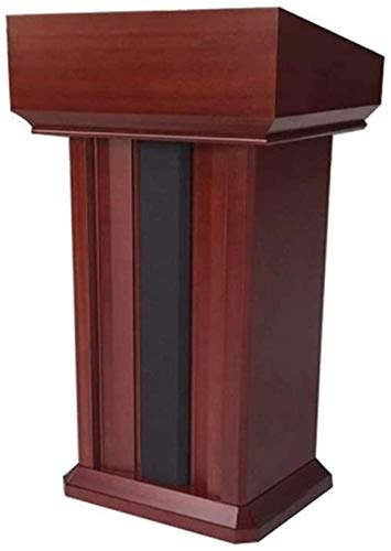 FGVBC Inicio Accesorios Atril Escritorio para Hablar Mesa de recepción Profesores Podio de Madera Maciza (Color: Rojo, Tamaño: Talla única)