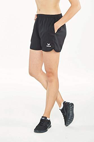 erima Damen Marathon Shorts mit Innenslip, Schwarz, 38, 809821