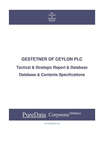 GESTETNER OF CEYLON PLC: Tactical & Strategic Database Specifications - Sri-Lanka perspectives (Tactical & Strategic - Sri Lanka Book 27418) (English Edition) ✅