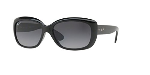 Ray-Ban RB4101 JACKIE OHH 601/T3 58M Shiny Black/Grey Gradient Dark Grey Polarized Sunglasses