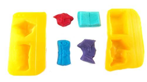 Flexible Molds - Graduation (4 cavity) - Cream Cheese Mint Molds - Candy Melts - Fondant - Caramels - Soft Candy Molds
