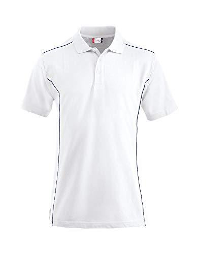 Clique Herren New Conway Polo Shirt Polohemd, weiß, XL