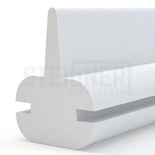 Duschdichtung Duschkabinen Dichtung 130cm SDD01 WEISS - Silikon Wasserabweiser Silikondichtung Dusche Dichtprofil Duschabtrennung Schwallschutz Glastürdichtung Duschkabine Glasduschen