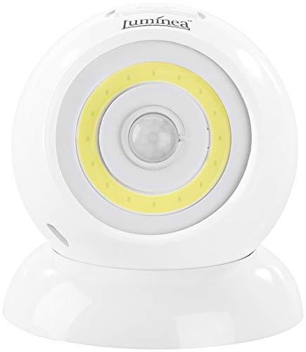 Luminea LED Akku Lampe: Ultrahelle COB-LED-Akku-Leuchte mit PIR Sensor, 200 Lumen, weiß (LED Bewegungsmelder Akku)
