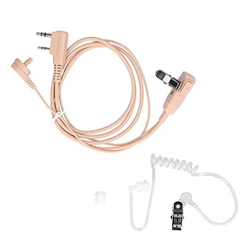 minifinker Auriculares Walkie Talkie, insonorizados No fáciles de Romper Auricular de Radio bidireccional Tamaño Compacto para Cable K-Head